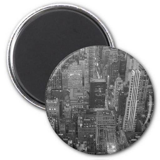 Black & White New York City Fridge Magnets