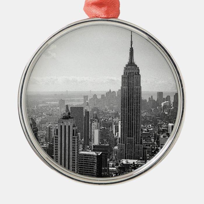 Black & White New York City Metal Ornament