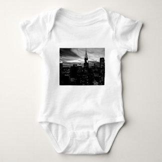Black & White New York City Midtown Baby Bodysuit