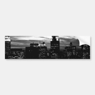 Black & White New York City Midtown Car Bumper Sticker