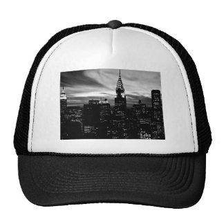 Black & White New York City Midtown Trucker Hats