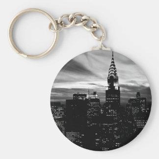 Black & White New York City Midtown Keychain