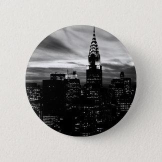 Black & White New York City Midtown Pinback Button