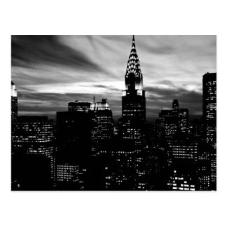 Black & White New York City Midtown Postcard