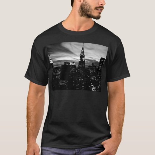 Zazzle Black & White New York City Midtown T-shirt