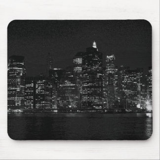 Black & White New York City Mouse Pad