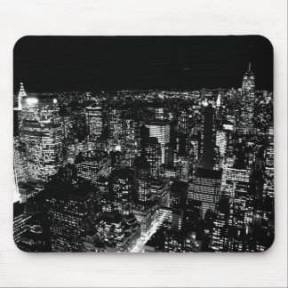 Black & White New York City Night Mousepad