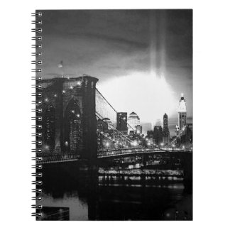 Black & White New York City & Night Spiral Notebook
