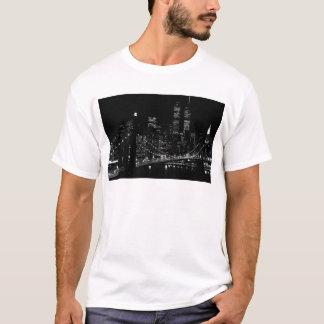 Black & White New York City Night T-Shirt