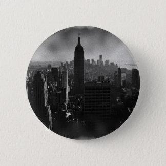 Black & White New York City Pinback Button