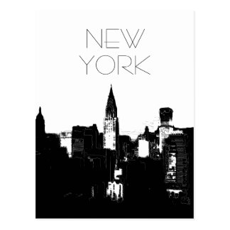 Black & White New York City Pop Art Postcards