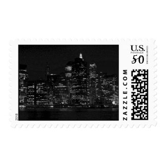 Black & White New York City Postage