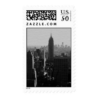 Black & White New York City Postage