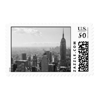 Black & White New York City Postage Stamps