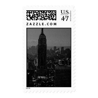 Black & White New York City Postage Stamps