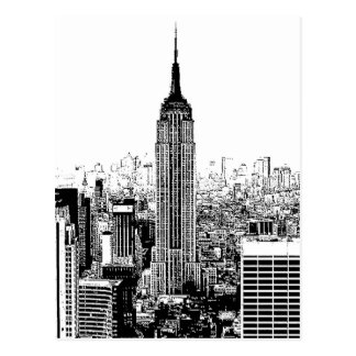 Black & White New York City Postcard