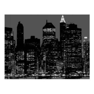 Black & White New York City Postcard