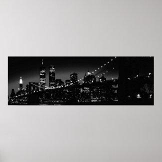Black & White New York City Poster
