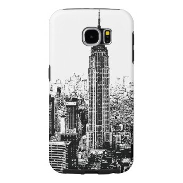 USA Themed Black & White New York City Samsung Galaxy S6 Case