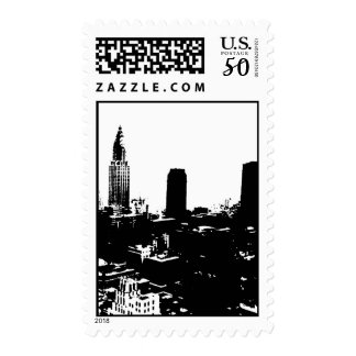 Black & White New York City Silhouette Postage