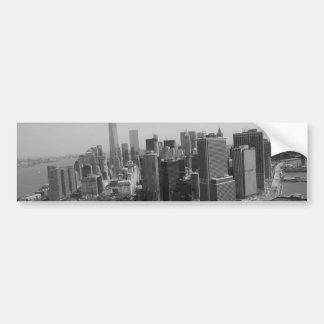 Black White New York City Skyline Bumper Sticker