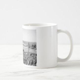 Black White New York City Skyline Coffee Mug