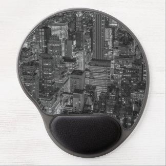 Black White New York City Skyline Gel Mouse Pad