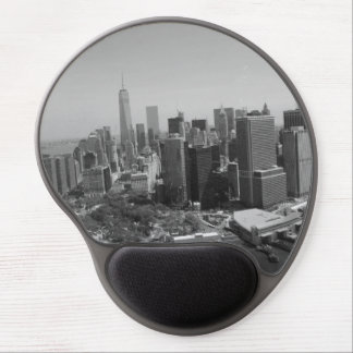 Black White New York City Skyline Gel Mouse Pad