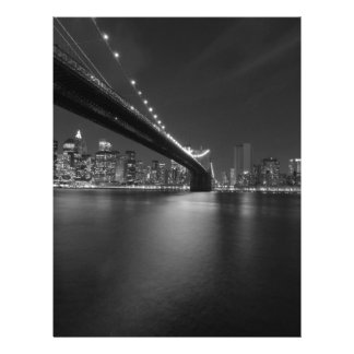 Black White New York City Skyline Letterhead