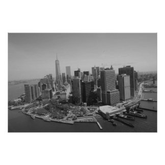Black White New York City Skyline Poster