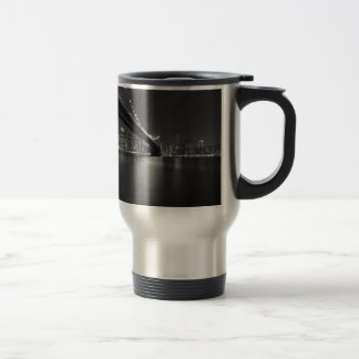 Black White New York City Skyline Travel Mug