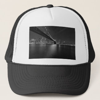 Black White New York City Skyline Trucker Hat