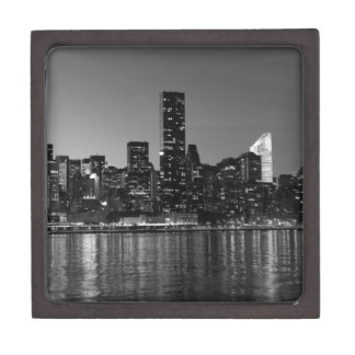 Black White New York City Skyscapers Silhouette Gift Box