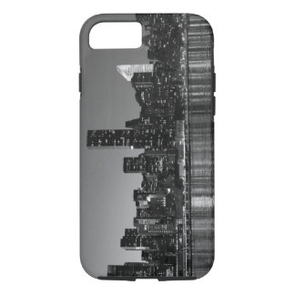 Black White New York City Skyscapers Silhouette iPhone 8/7 Case