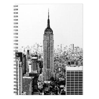 Black & White New York City Spiral Note Books