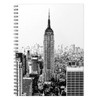 Black & White New York City Spiral Notebook
