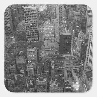Black & White New York City Square Stickers
