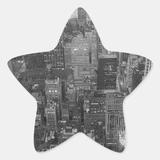 Black & White New York City Star Stickers