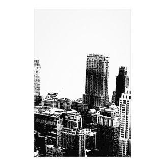 Black & White New York City Stationery