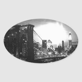 Black & White New York City Stickers