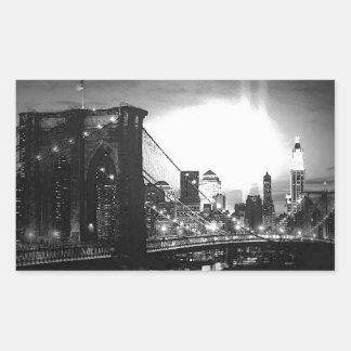 Black & White New York City Rectangle Stickers