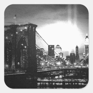 Black & White New York City Square Sticker