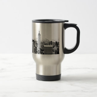 Black & White New York City Travel Mug