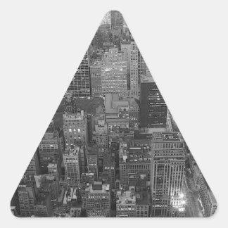 Black & White New York City Triangle Sticker