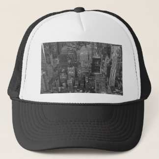 Black & White New York City Trucker Hat