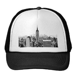 Black & White New York City Trucker Hat