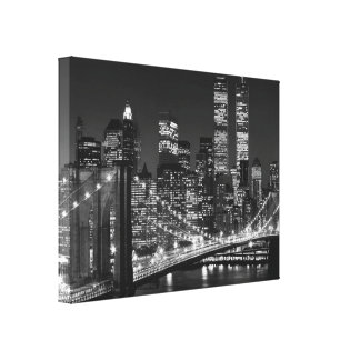 Black & White New York City Wrapped Canvas