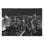 Black & White New York Cloth Placemat