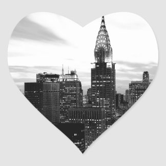 Black & White New York Heart Sticker