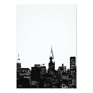 Black & White New York Invitation